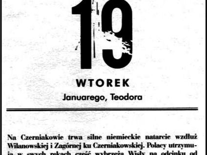 Kartka z kalendarza - dni 50-54 - Powstanie Warszawskie