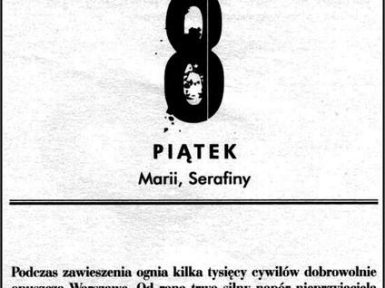Kartka z kalendarza - dzień 39 i 40 - Powstanie Warszawskie