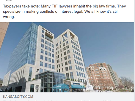 Feds investigating Polsinelli Lawfirm (who also has development lawyers well-versed in TIF deals)