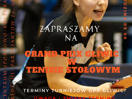 Uwaga - zmiana Terminu rozegrania GP Gliwic!