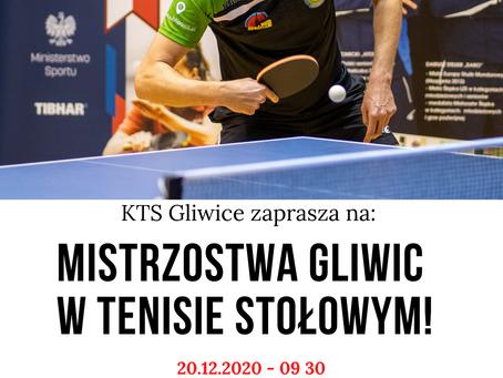 Zapraszamy na Mistrzostwa Gliwic w Tenisie Stołowym!