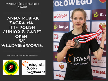 Ania Kubiak powołana na ITTF Polish Junior & Cadet Open