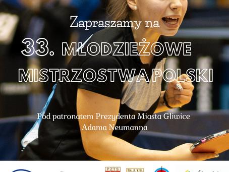 33. Młodzieżowe Mistrzostwa Polski  w tenisie stołowym