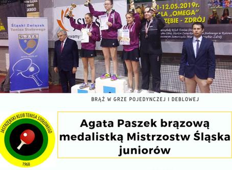 Agata Paszek na podium Mistrzostw Śląska Juniorów!