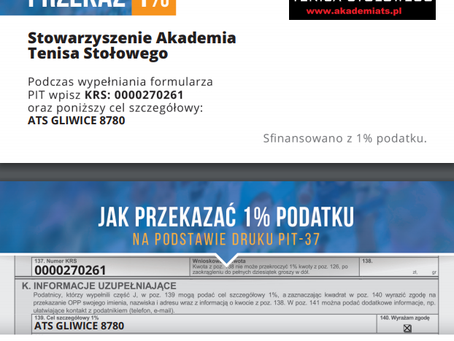 Przekaż 1% podatku na KTS Gliwice!