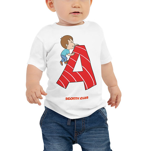 Letter A Baby Jersey Short Sleeve Tee