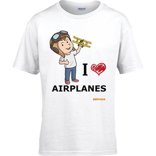 I Love Airplanes Tshirt