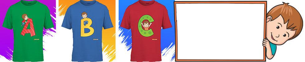 Alphabet Tshirts For Kids