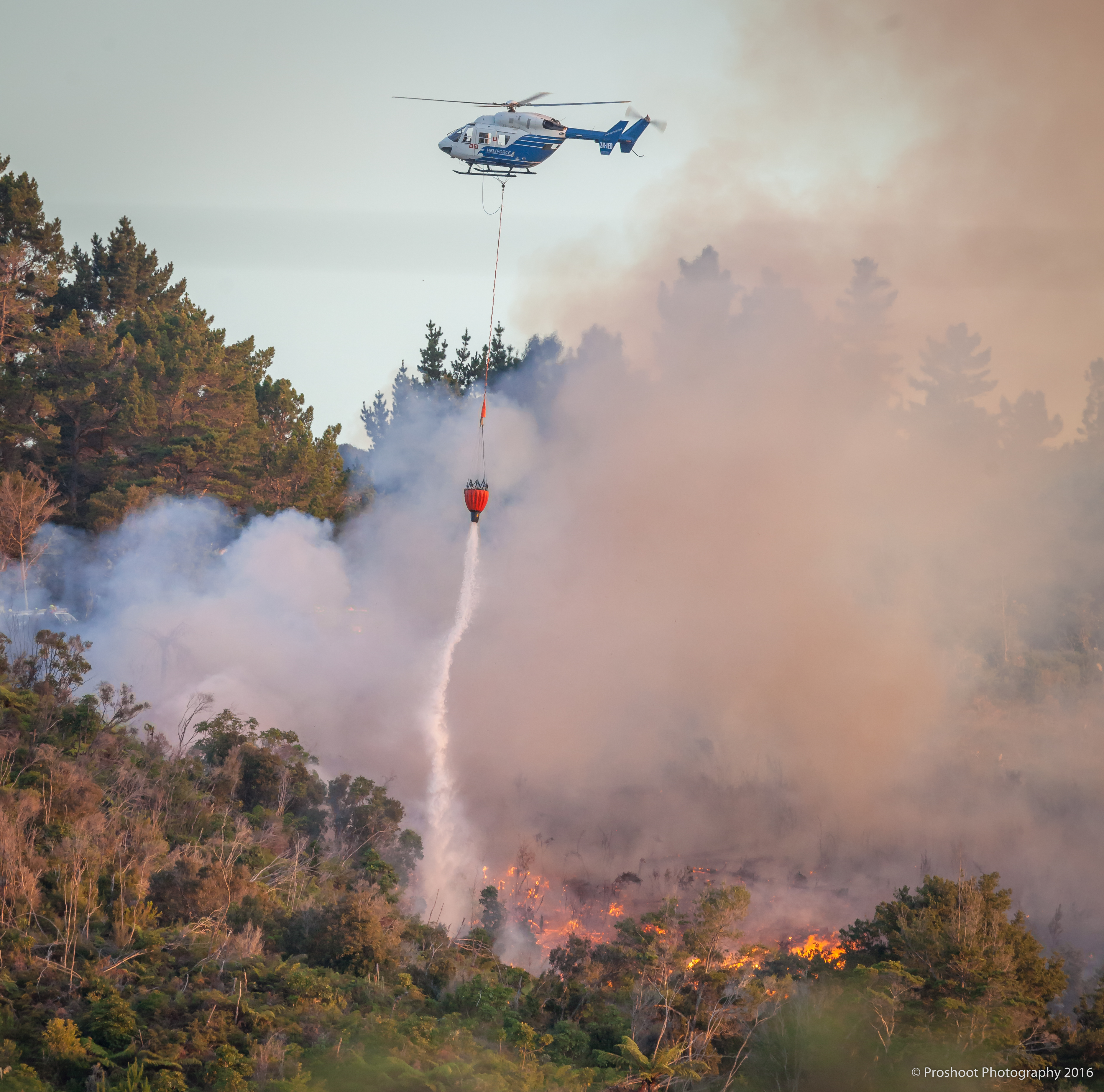 Upper Hutt Scrub Fire  5796