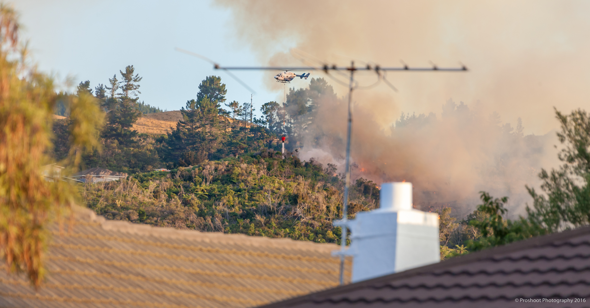 Upper Hutt Scrub Fire Images 5594