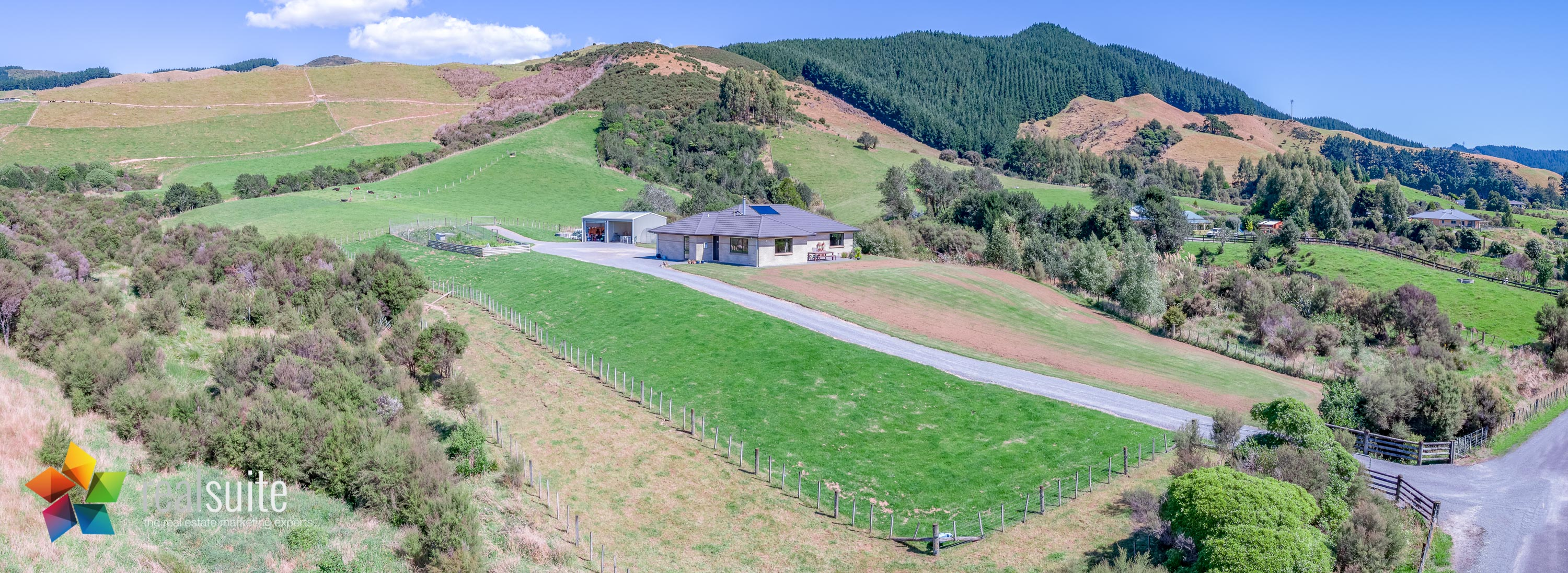 123e Johnsons Road, Whitemans Valley Aerial 0914-Pano