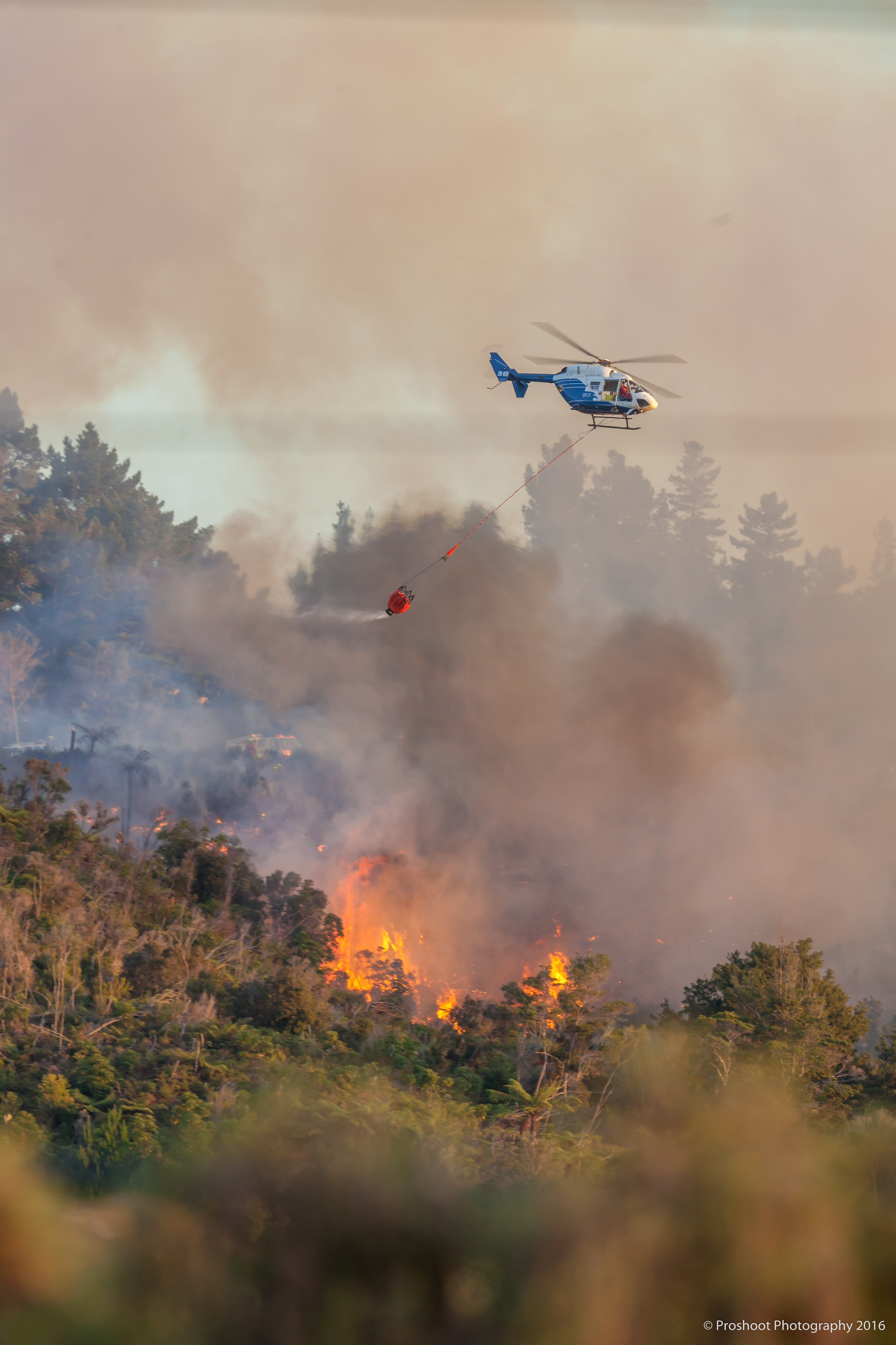 Upper Hutt Scrub Fire  5751