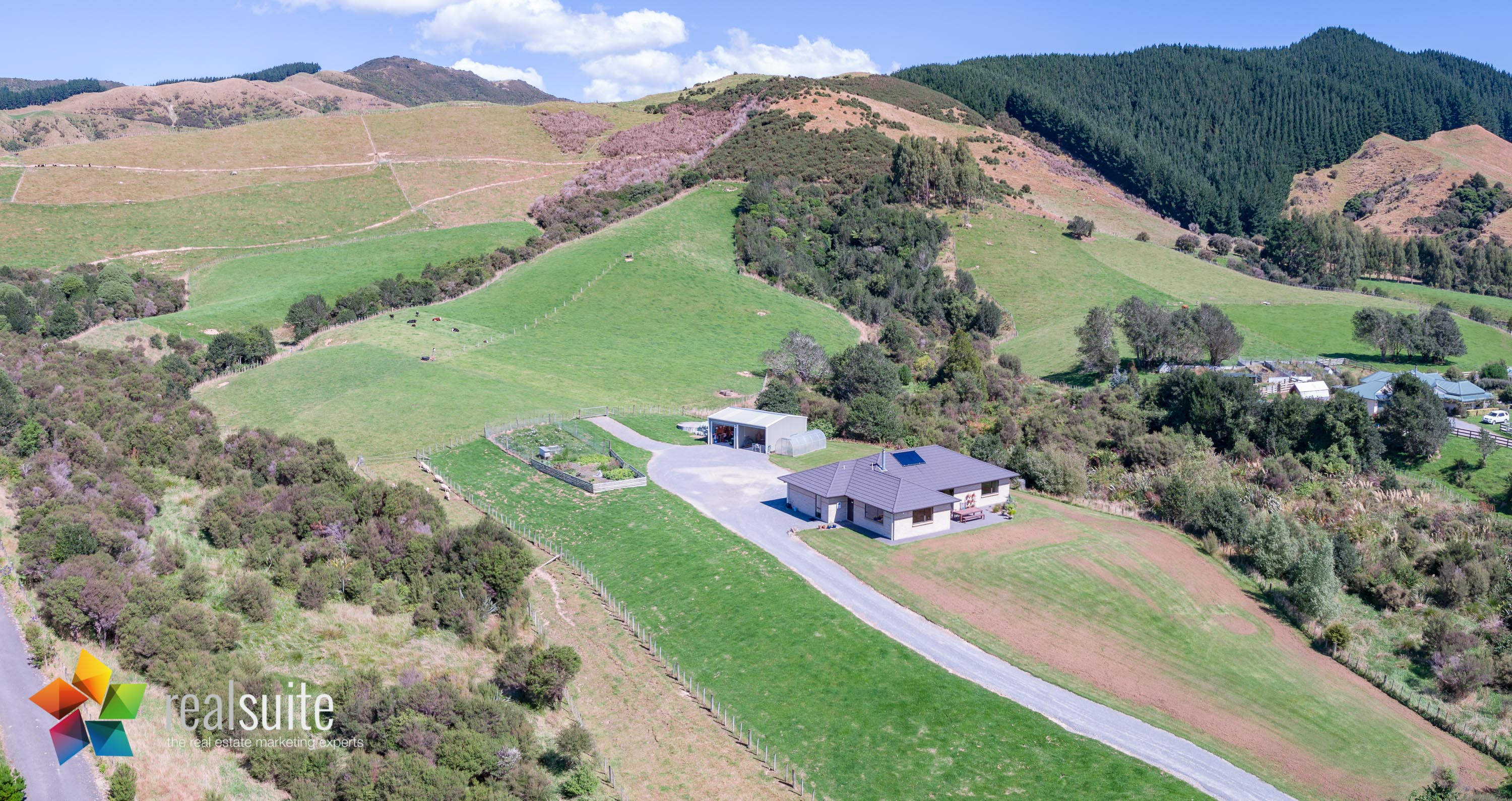 123e Johnsons Road, Whitemans Valley Aerial 0920-Pano