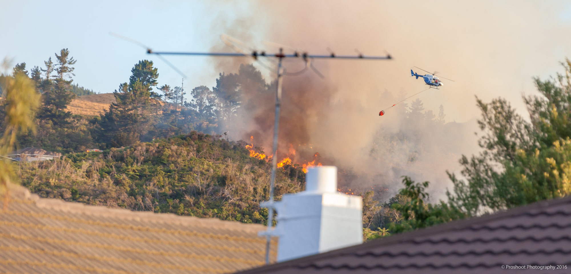Upper Hutt Scrub Fire Images 5611