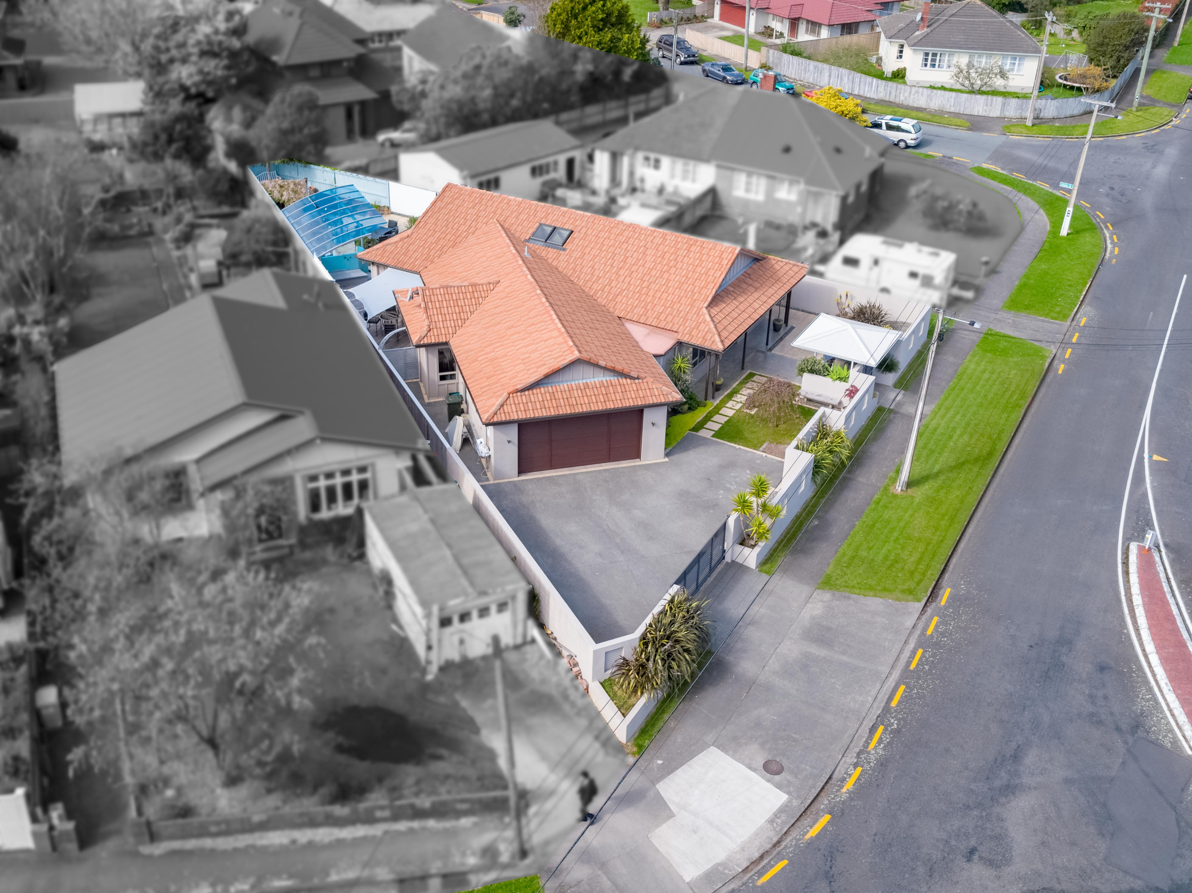 1 Brees Street, Lower Hutt Aerial 0280 Boundary 3