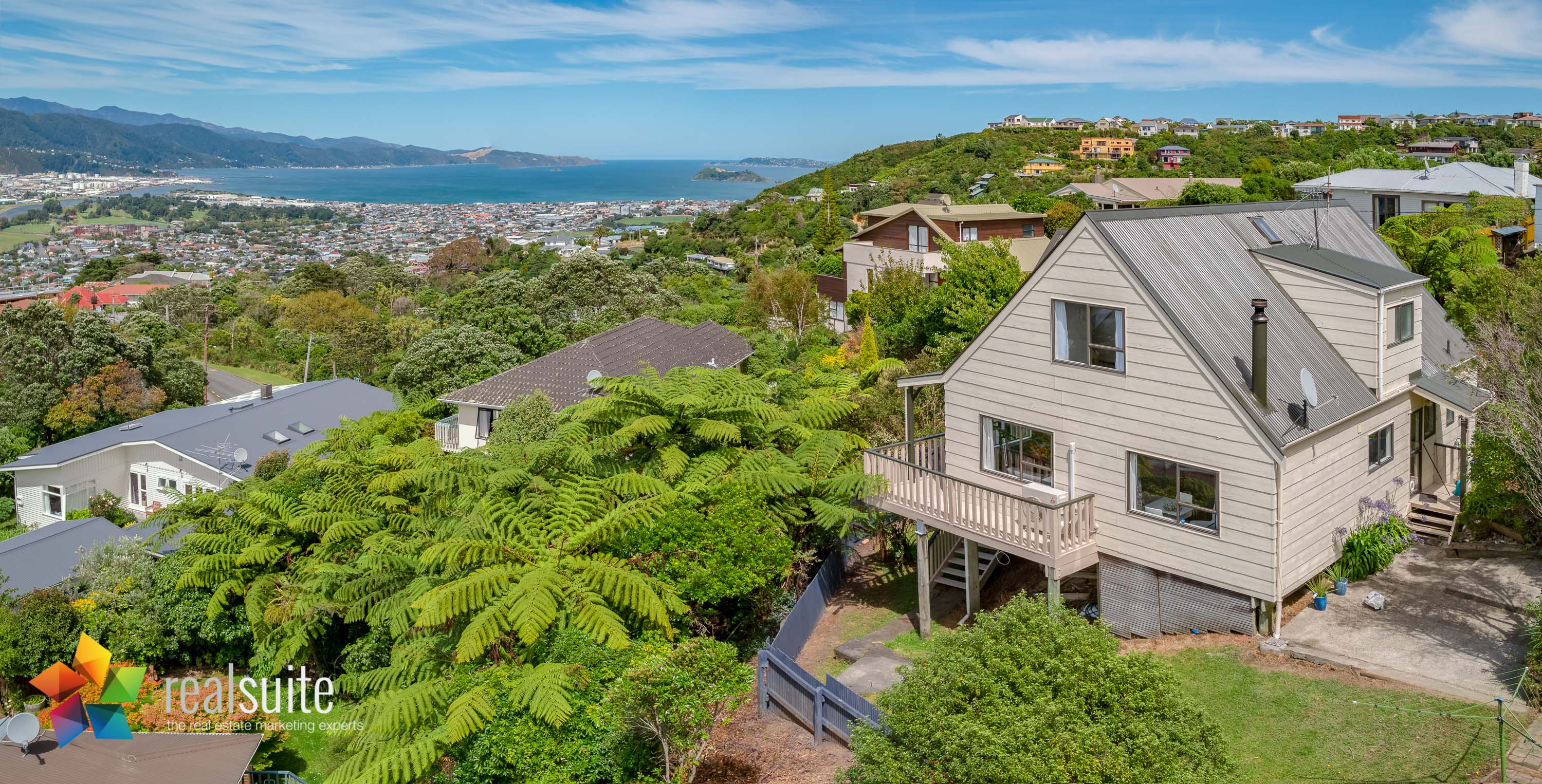 47 Pokohiwi Road, Lower Hutt Aerial 0427-Pano