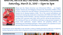 Martial Arts & Self Defense  Training Seminar