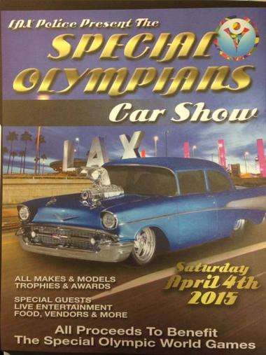 LAX Police Present  The Special Olympics Car Show