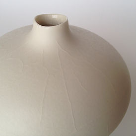 Crackle glaze vase - detail