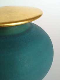 Gold leaf lidded pot