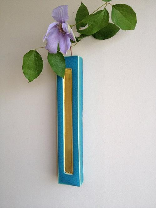 金箔押し壁掛け花器