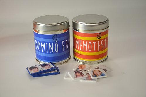 Domin� y Memotest familiar personalizado