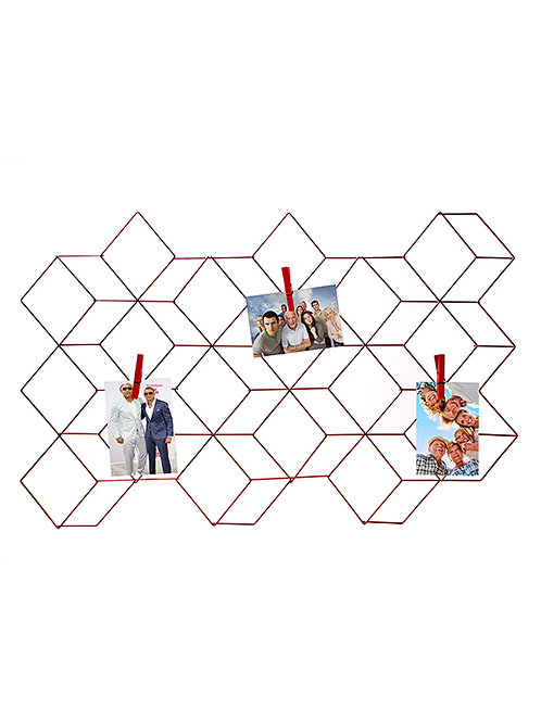 Adorno de metal para fotos con broches de 82x52 cm