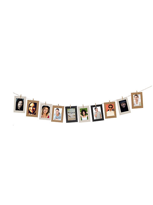 Set colgante 10 fotos MEDIANO Kraft 10x15 cm