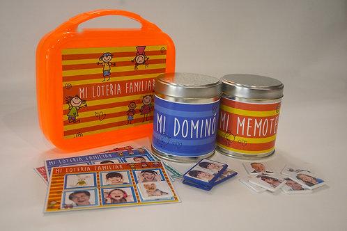 Set x 3 juegos familiares personalizados