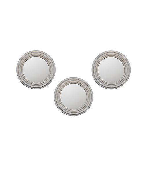 Set 3 espejos 24 cm diámetro