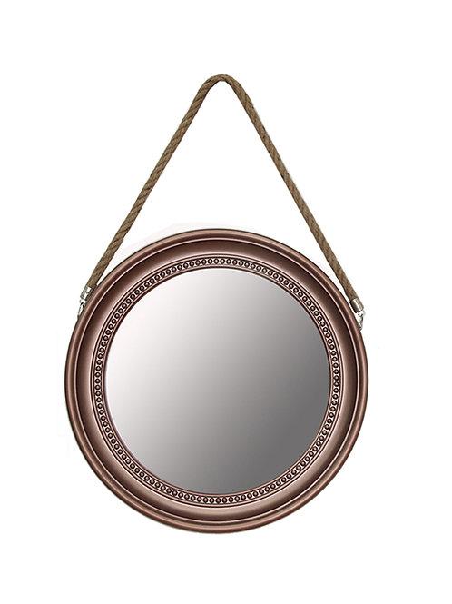 Espejo redondo pl�stico c/ soga para colgar