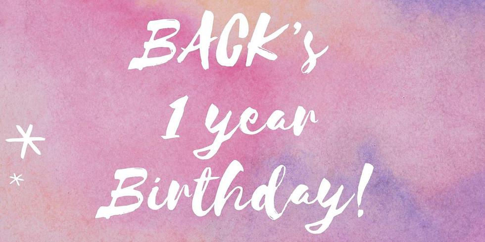 Groove Back 1 year Birthday celebrations!