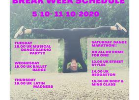 #29th week BREAK WEEK & DANCE MARATHON!!