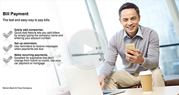 Online Banking video tutorial for Bill Pay
