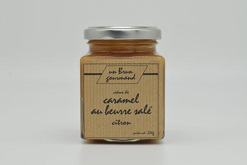Crème de caramel au beurre salé au citron 220g