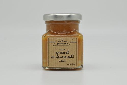 Crème de caramel au beurre salé au citron 110g