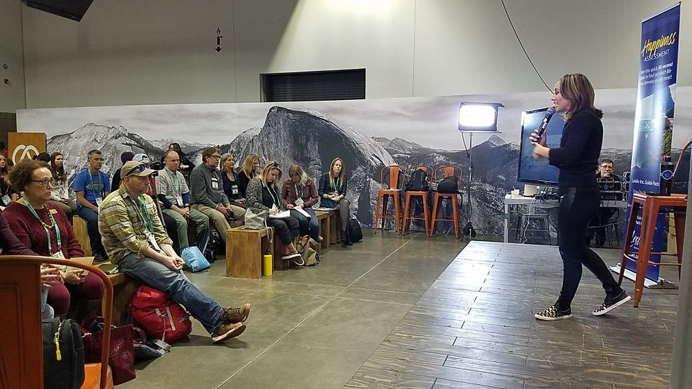 Leslie juvin acker workhappy workshop outdoor retailer the camp denver colorado