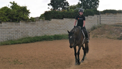 young equestrian rider the riding school