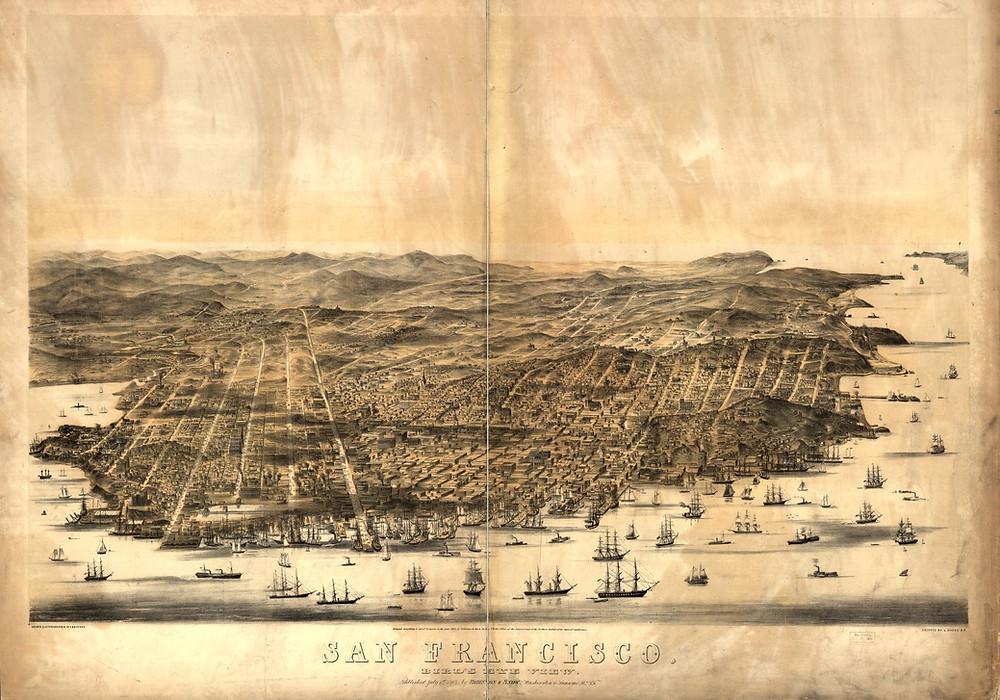 San Francisco Aerial View 1864