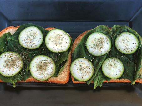 Cucumber Spinach Sandwiches!