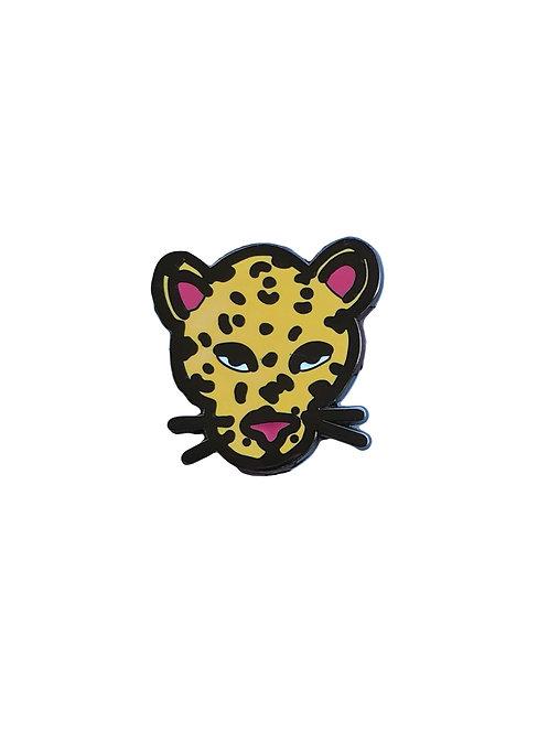 Leopard enamel pin