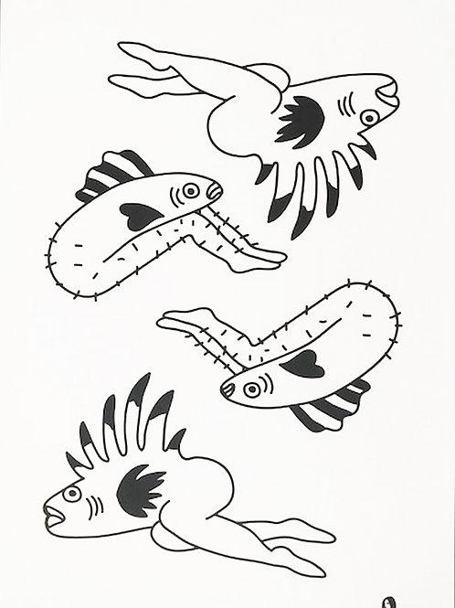Reversed mermaid Poster