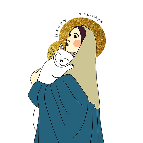 5 Christmas Cards Maria and Jesus