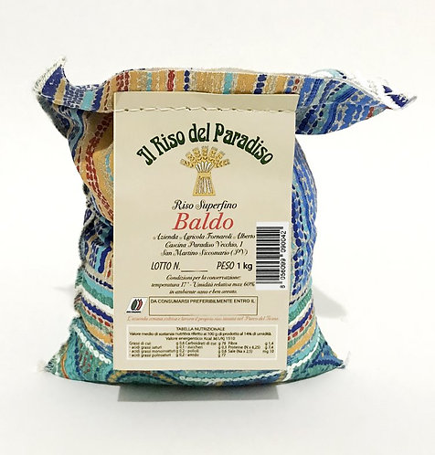 ORGANIC BALDO RICE FROM PO VALLEY 100% MADE IN ITALY 1 KG