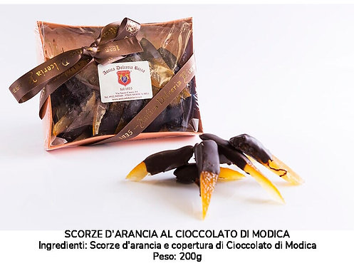 ORGANIC ORANGE PEELS WITH MODICA CHOCOLATE 200 GR