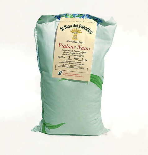 ORGANIC VIALONE RICE FROM PO VALLEY 100% MADE IN ITALY 1 KG