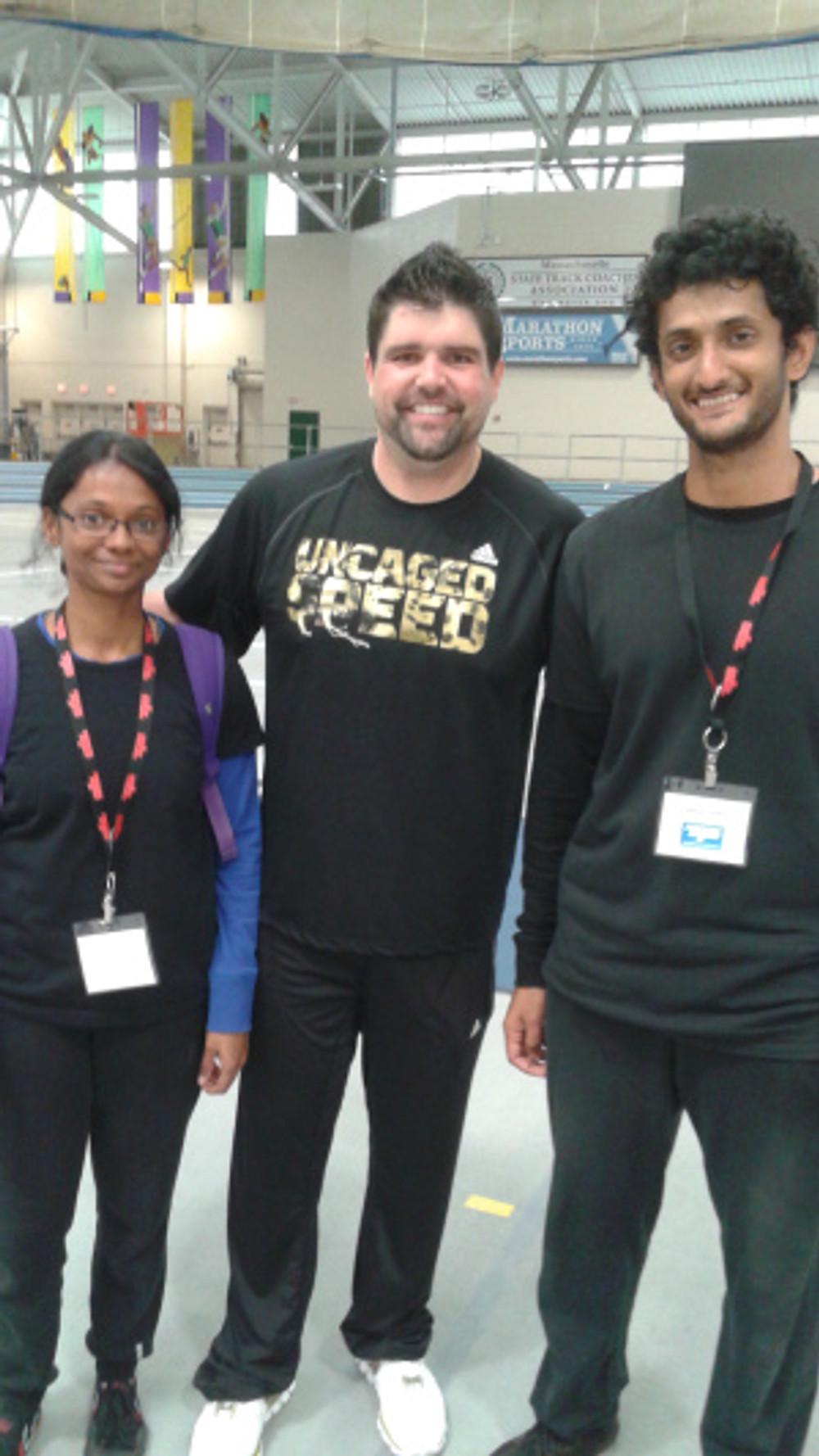 With coach Nick Winkelman