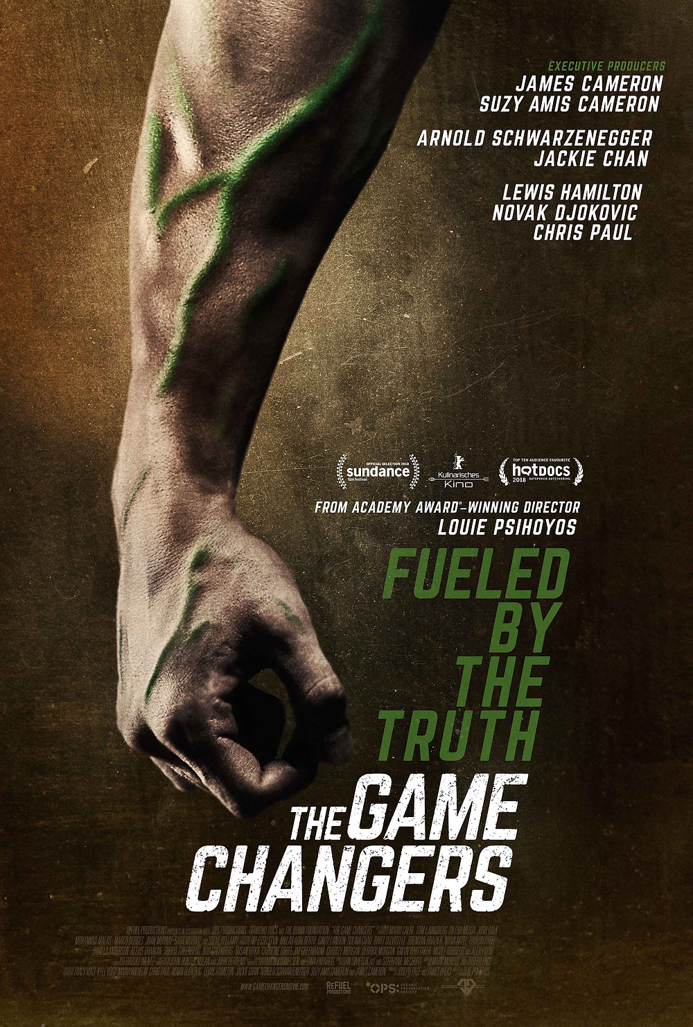 The Game Changers - James Cameron, Suzy Amis Cameron, Arnold Schwarzenegger, Jackie Chan, Lewis Hamilton, Nocak Djokovic, Chris Paul