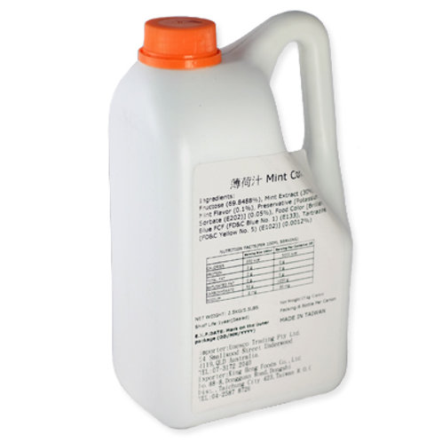 Mint Syrup (2.5kg or 2.1L)