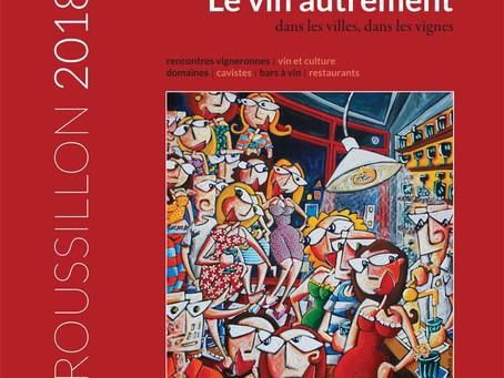 """Publication d'un de mes dessins dans le guide """" Le Vin Autrement """"."""